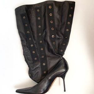 Dolce & Gabbana Snap Leather Boots